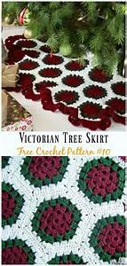 crochet, christmas, tree, skirt, free, patterns