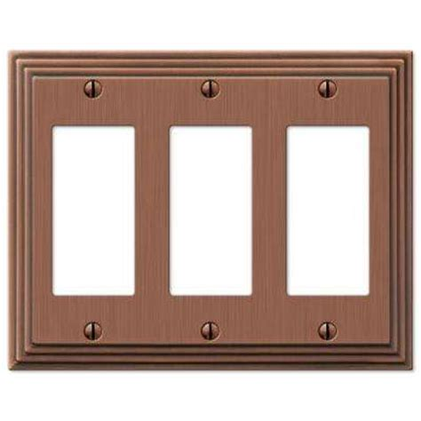 amerelle filigree 1 decora wall plate antique copper switch plates wall plates the home depot