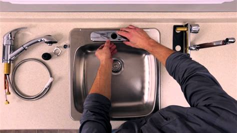 rona comment installer ou remplacer un robinet sur un 233 vier de cuisine
