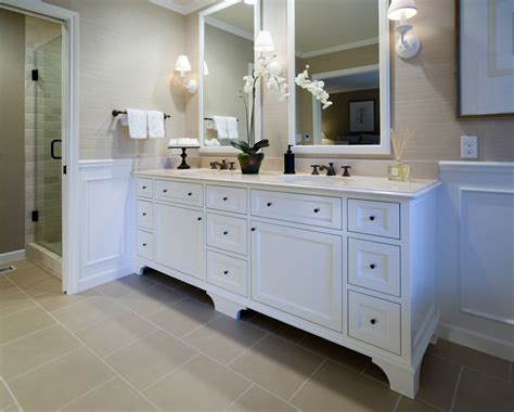 White Cabinets In Bathroom by 84 Inch Bathroom Vanity The Variants Homesfeed