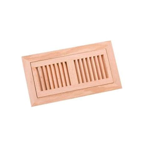 Wooden Floor Registers Home Depot by Zoroufy 4 In X 10 In Wood Oak Unfinished Flush Mount