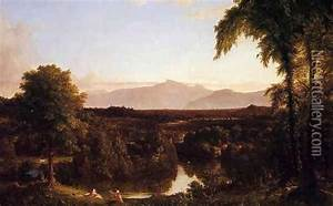 View on the Catskill - Early Autumn oil painting ...