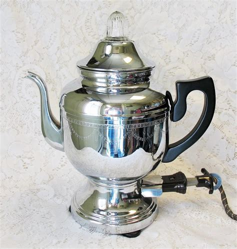 5 out of 5 stars (1) $ 20.00. Vintage Farberware Electric Coffee Percolator Pot Art Deco Chrome : Mighty Fine Finds | Ruby Lane