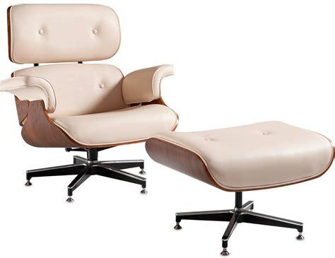 Poltrona Patchwork Eames : Poltrona Charles Eames Creme + Puff
