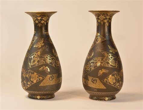 japanese vases stallion hill gallery pair japanese porcelain vase imitating komai