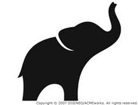 elephant stencil trunk up stencils silhoettes on stencil damask