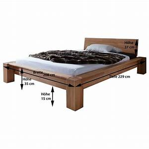 Bett 100 X 180 : bett luzia 180 x 200 cm in kernbuche massiv ge lt ~ Bigdaddyawards.com Haus und Dekorationen