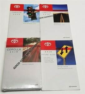 2019 Toyota Corolla Owners Manual User Guide Xse Xle Le Se