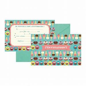 Carte Anniversaire Pour Enfant : cartes d 39 invitation anniversaire gourmandise ~ Melissatoandfro.com Idées de Décoration