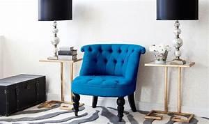Fauteuil Bleu Canard : fauteuil crapaud bleu canard ~ Teatrodelosmanantiales.com Idées de Décoration