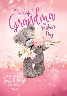 wonderful grandma  mothers day personalised card