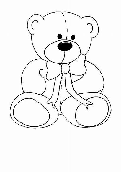 Coloring Pages Olds Bear Easy Simple Printable