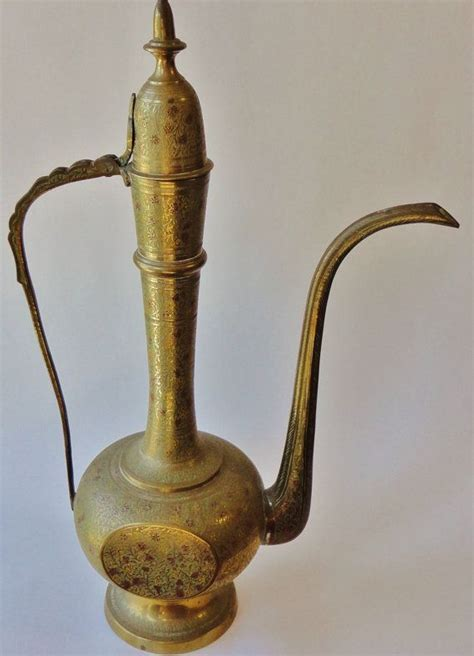 Antique Brass Genie L by Vintage Brass Genie L Vase Tea Pot Pitcher