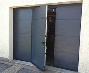 portes de garage sectionnelles plafond portes de garage With porte de garage avec portillon integre