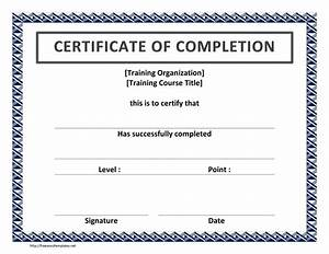 completion certificate template certificate templates With certification of completion template