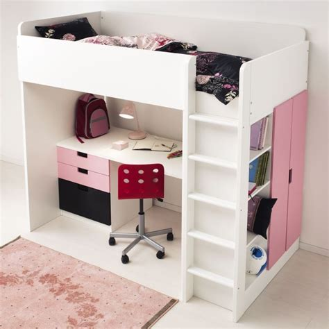 loft bed with desk ikea woodworking projects plans