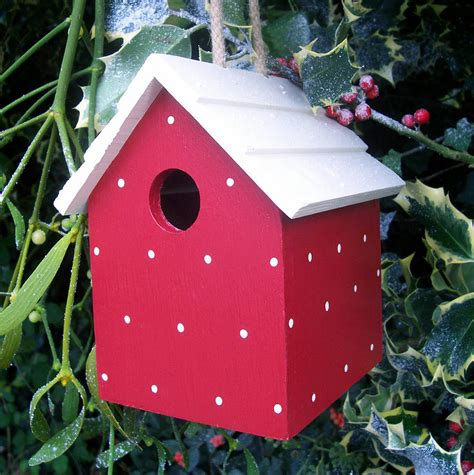 handmade bird house by the painted broom company