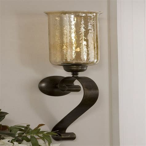 Uttermost Wall Sconces by Uttermost 19150 Joselyn Candle Wall Sconce In Bronze