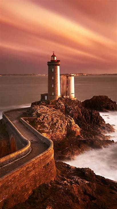 Lighthouse 4k Sunset Iphone Wallpapers Android 1080