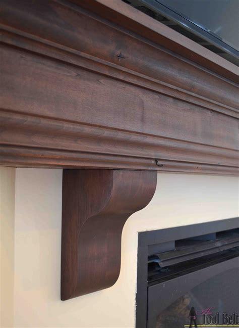 diy fireplace mantel shelf  tool belt