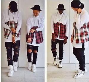 2015 cool hba men streetwear shirts side zipper plaid for Chemise a carreaux homme swag