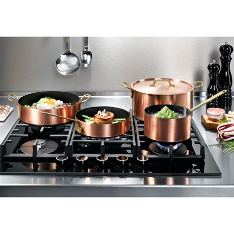 induction copper cookware modern pans pots hobs cuisine coating ceramic suitable compatible proidee cookers