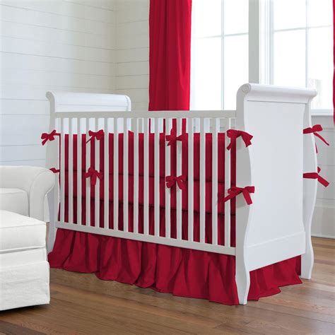 red baby bedding solid red crib bedding collection