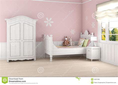 slaapkamer l baby de slaapkamer van het roze meisje stock illustratie