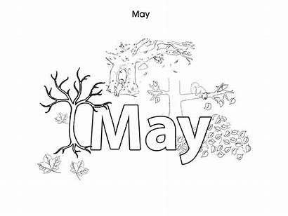 Colouring Pages Months Month Printables June February