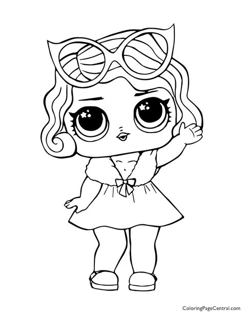 LOL Surprise Leading Baby Coloring Page Coloring Page