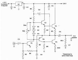 General Purpose 10 Watt Audio Amplifier Circuit