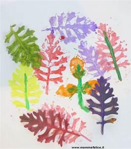 Lavoretti per bambini con fiori e foglie Mamma Felice