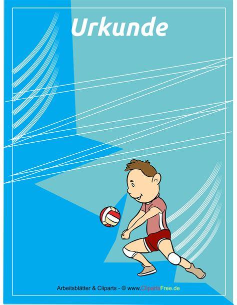 volleyball urkunden kostenlos ausdrucken