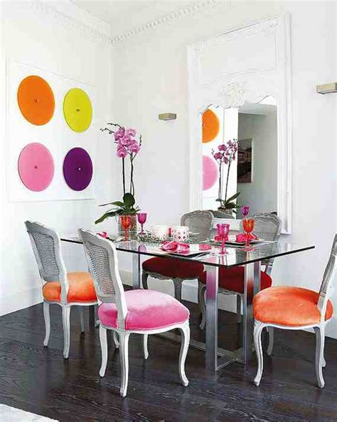 coloured dining room chairs pattern painted tables