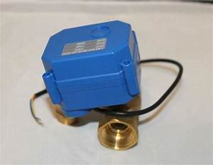 12v Motorised Ball Valve Brass 2 Way 3  4 U0026 39  U0026 39   Dn20  Electric Shut Off Valve  3 Wires  Cr03 Wiring