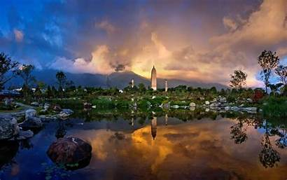 Clouds Sunset Buildings Landscapes Dali Sheer China