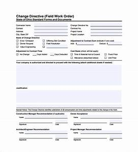6+ Sample Construction Work Order Forms Sample Templates