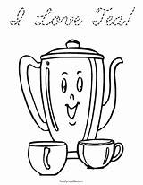 Tea Coloring Teapot Pages Colouring Party Little Sheets Print Pot Cursive Happy Noodle Adults Coffee Afternoon Twisty Template Adult Birthday sketch template