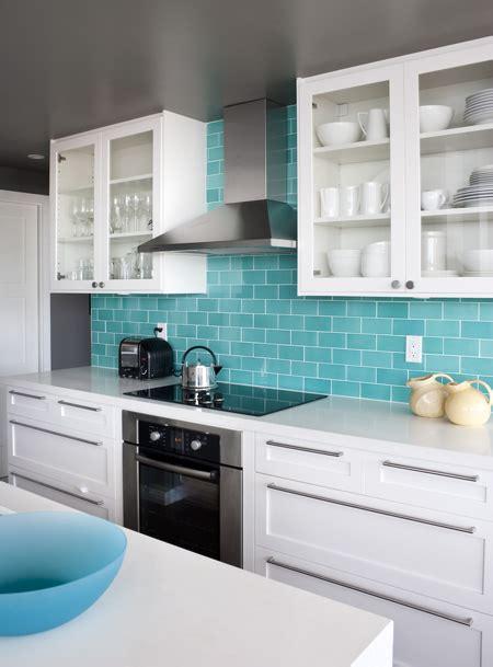 Kitchen Backsplash Turquoise by Turquoise Subway Tile Backsplash Design Ideas