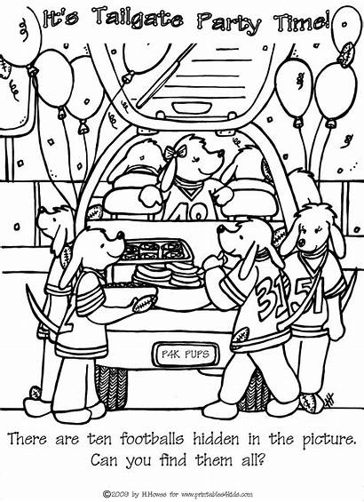 Printable Puzzles Hidden Tailgate Crossword Coloring Printables