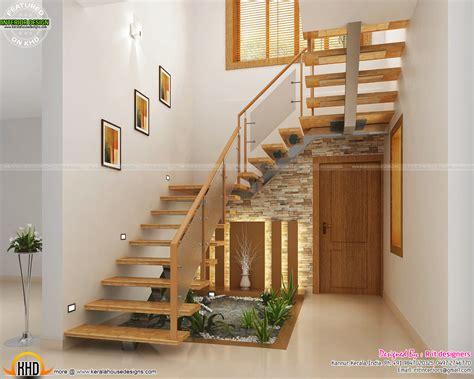 Under Stair design, wooden stair, kitchen and living