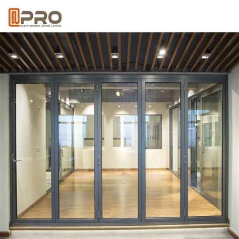 powder coated aluminum folding doors  commercial buildings customized size automatic folding