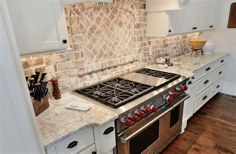 Thin Brick Tiles Used As Backsplash We Would Recommend