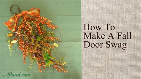 how to make a fall door swag youtube