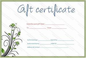 printable gift certificate template gift certificate With downloadable gift certificate template