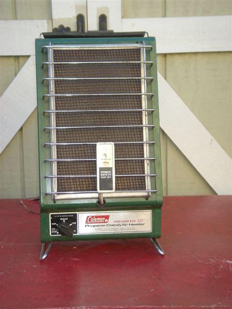 coleman catalytic heater tech nostalgia pinterest