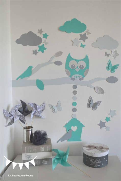 hibou chambre bébé stickers décoration chambre enfant garçon bébé branche