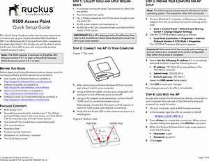 Ruckus Wireless R500 Ieee 802 11ac Access Point User