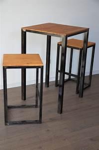 Table Haute Bois Metal : les 82 meilleures images du tableau tables bureaux consoles et gueridons sur pinterest ~ Teatrodelosmanantiales.com Idées de Décoration
