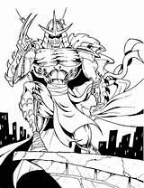 Shredder Coloring Ninja Super Turtles Tmnt Drawing Mutant Sketch Awesome Enemy Teenage Template Abrir sketch template